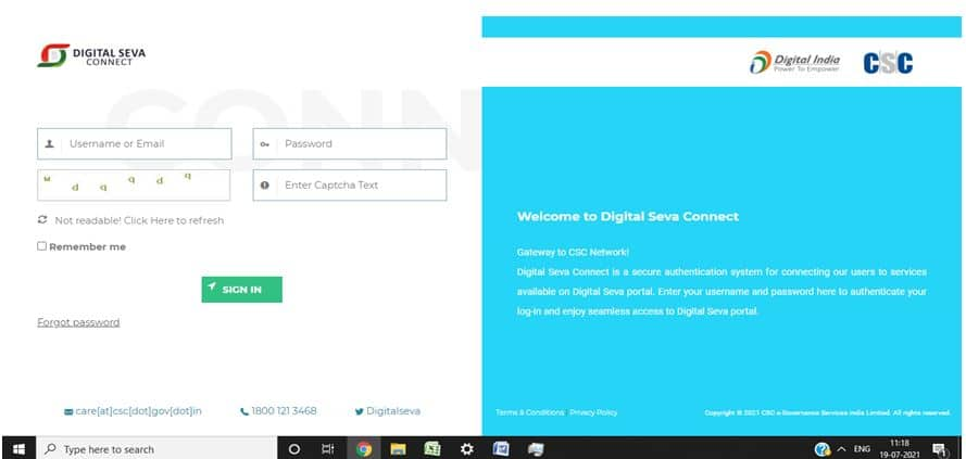 NDUW New Project CSC Login Page